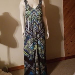 Long Silky Maxi Sundress Size L